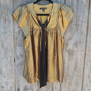 Banana Republic Gold Party shirt. Size S